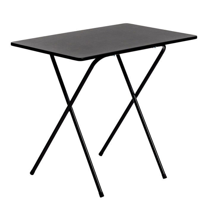 Harbour Housewares Folding Desk Table - 80cm - Black