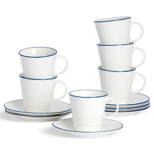 Nicola Spring Farmhouse Tea Cup & Saucer Set - 250ml