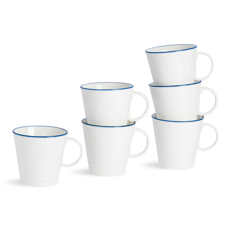 Nicola Spring 6 Farmhouse Coffee/Tea Cups - 250ml