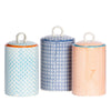 Nicola Spring Porcelain Tea & Coffee Canister - Set of 3 Colours