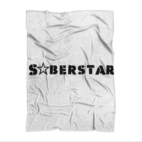 SoberStarz Black Sublimation Adult Blanket