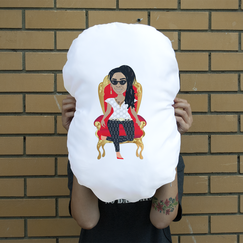 QTY Jazz Animation One Giant Face Cushion