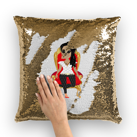 QTY Jazz Animation One Sequin Cushion Cover