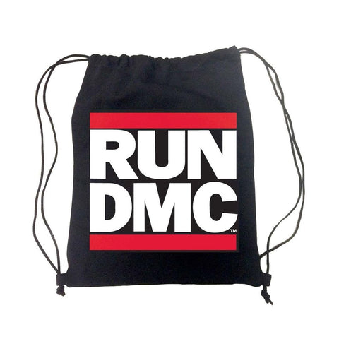 Run Dmc Logo - Mens Black Back Pack