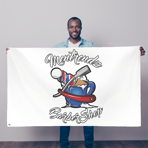 Mentrendz Barbarshop AOP Sublimation Flag