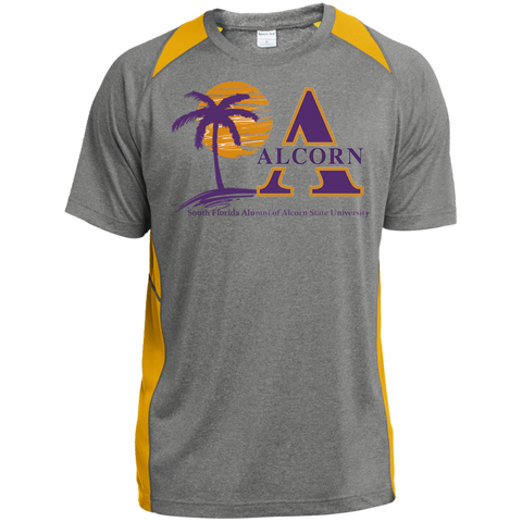 South Florida Alumni of Alcorn State University Heather Colorblock Poly T-Shirt