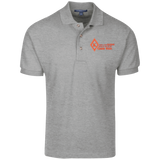 Keepers of the Diamond Claude White Cotton Pique Knit Polo - iWILLinspire