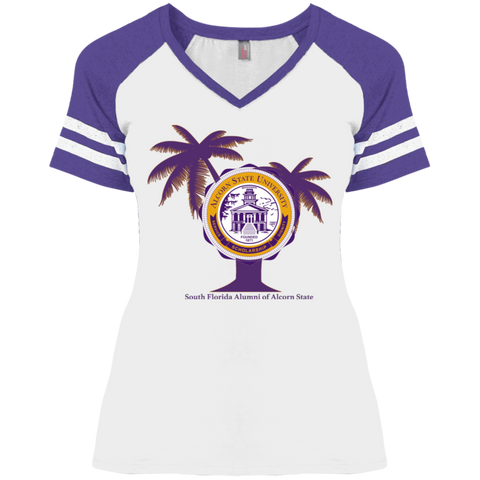 South Florida Alumni of Alcorn State University District Ladies' Game V-Neck T-Shirt
