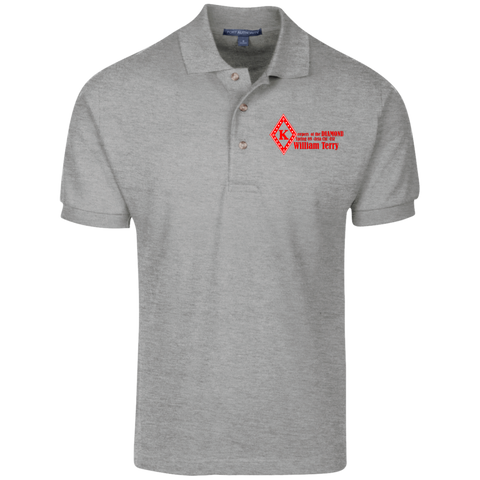 Keepers of the Diamond William Terry Cotton Pique Knit Polo - iWILLinspire