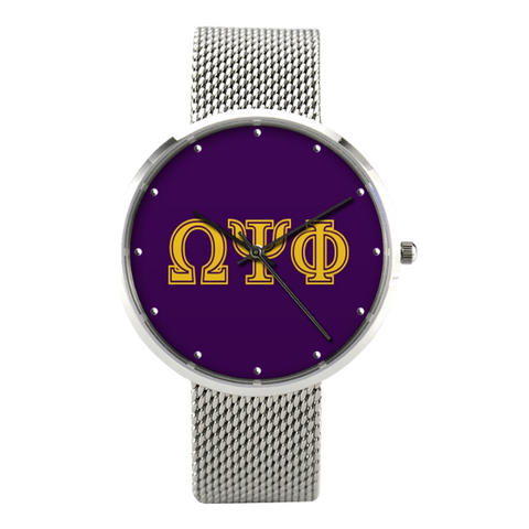 Omega Psi Phi - 30 Meters Waterproof Quartz Bussiness Watch With Casual Stainless Steel Band - iWILLinspire