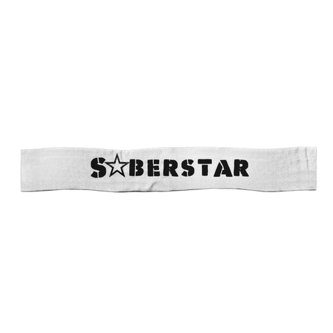 SoberStarz Black Satin Sports Scarf