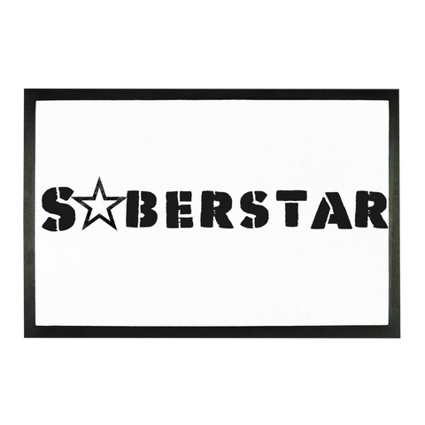 SoberStarz Black Sublimation Doormat