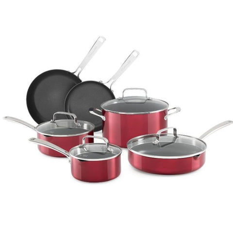 KitchenAid Battery Anodized Nonstick Aluminum Cookware - 10 Piece Set