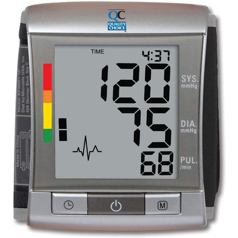 Quality Choice Deluxe Automatic Wrist Blood Pressure Cuff