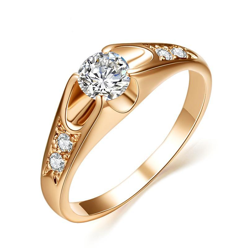 Women's Ring -  Rose Gold - Platinum Plated - Zinc Alloy