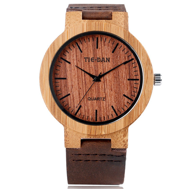 Wooden Watches - Leather Band
