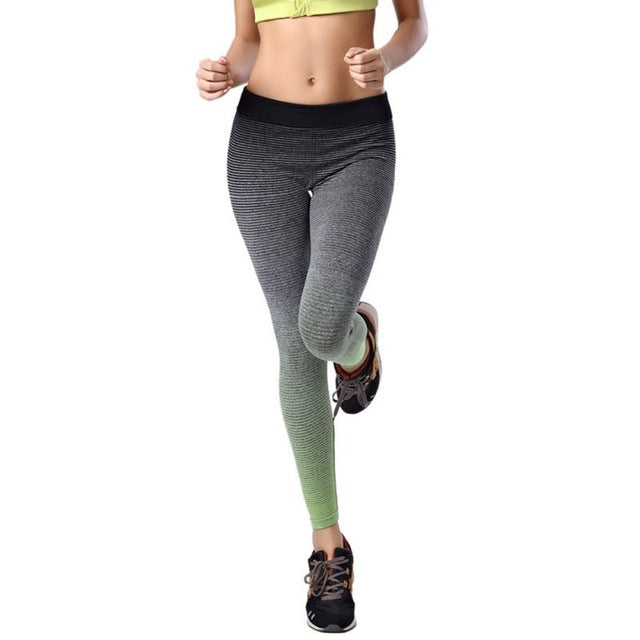 Casual Workout Gradient Leggings