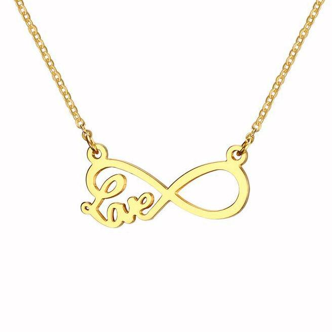Infinity Women Necklace -  Love Pendants - Gold Color