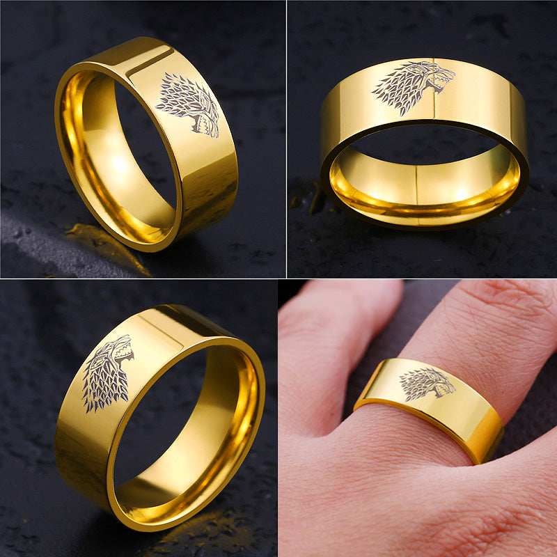 Wolf Ring Gold Color