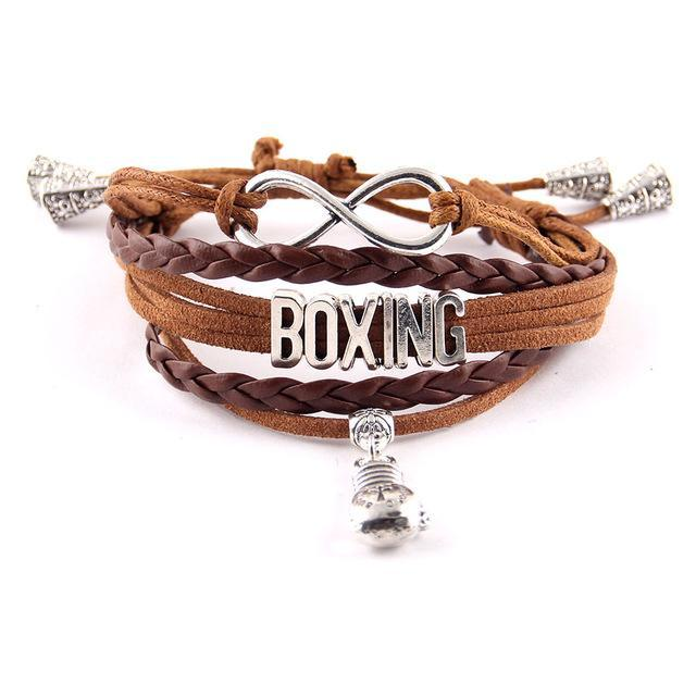 Charm Leather Bracelet - Love Boxing
