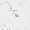 Initials Name Necklace - Rose Pendant Necklace