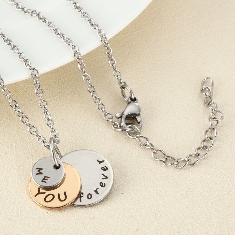 """ME YOU forever"" Gold Silver Necklace"