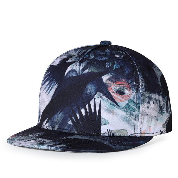 Wildlife Black Baseball Cap - Snapback Cap