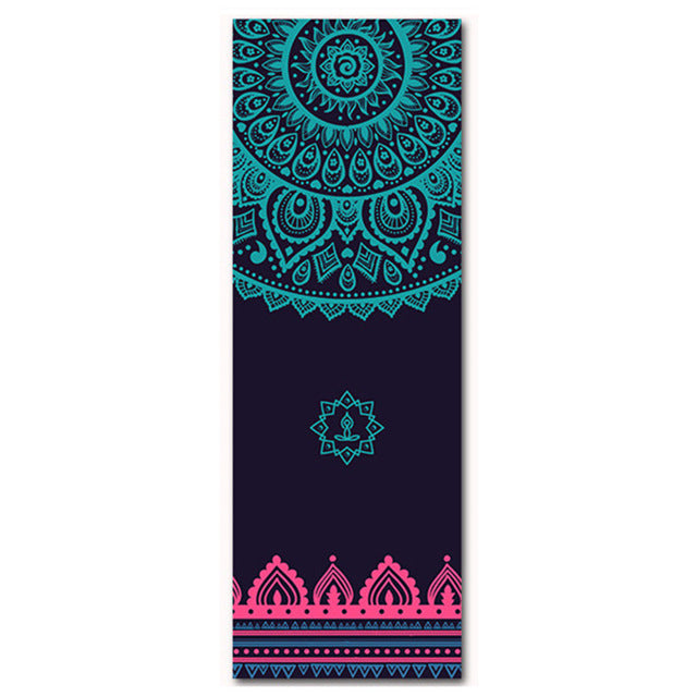 Anti Slip Suede Natural Rubber Yoga Mat