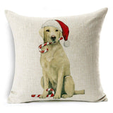 Labrador Christmas Cushion Covers