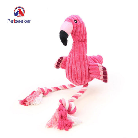 Premium Pink Rope Flamingo Toy (60% OFF)