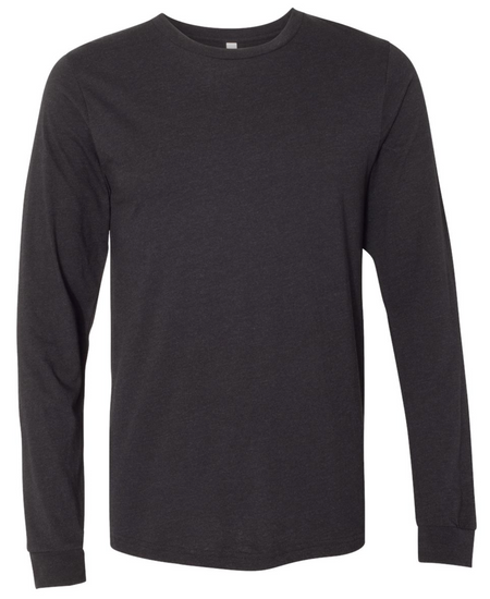 Black Heather Long Sleeve T