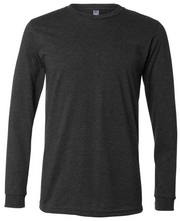 Dark Grey Heather Polyester Long Sleeve T