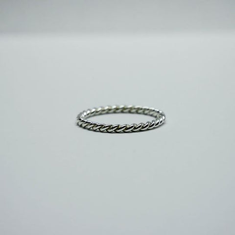 Stackable Twisted Rope Ring