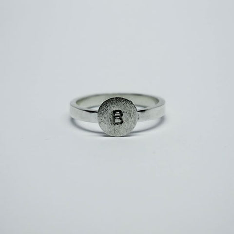 Stackable Disc Initial Ring (N-Z)