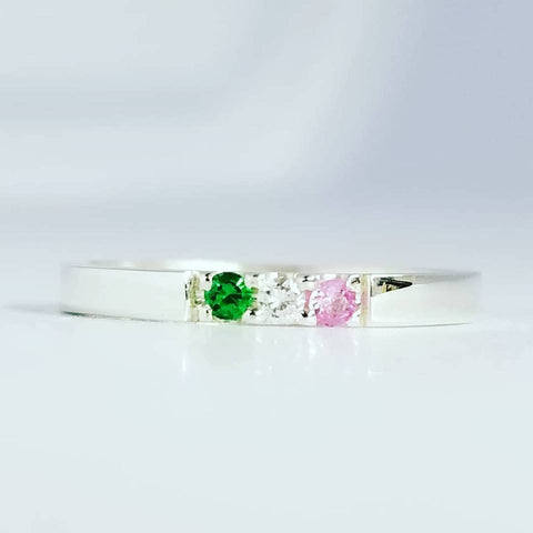 Newfoundland Pink, White and Green Ring