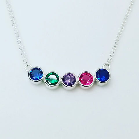 Bezel Family Necklace