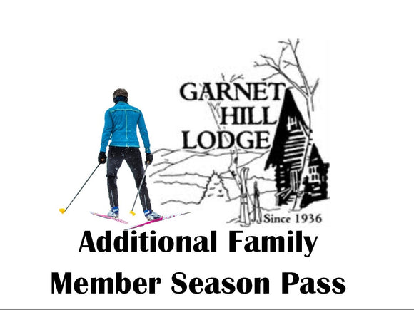 2019 Extra Family Member Ski Season Pass