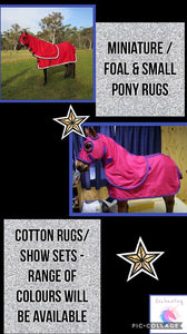 COMING SOON! mini,foal & small pony show sets & cottons