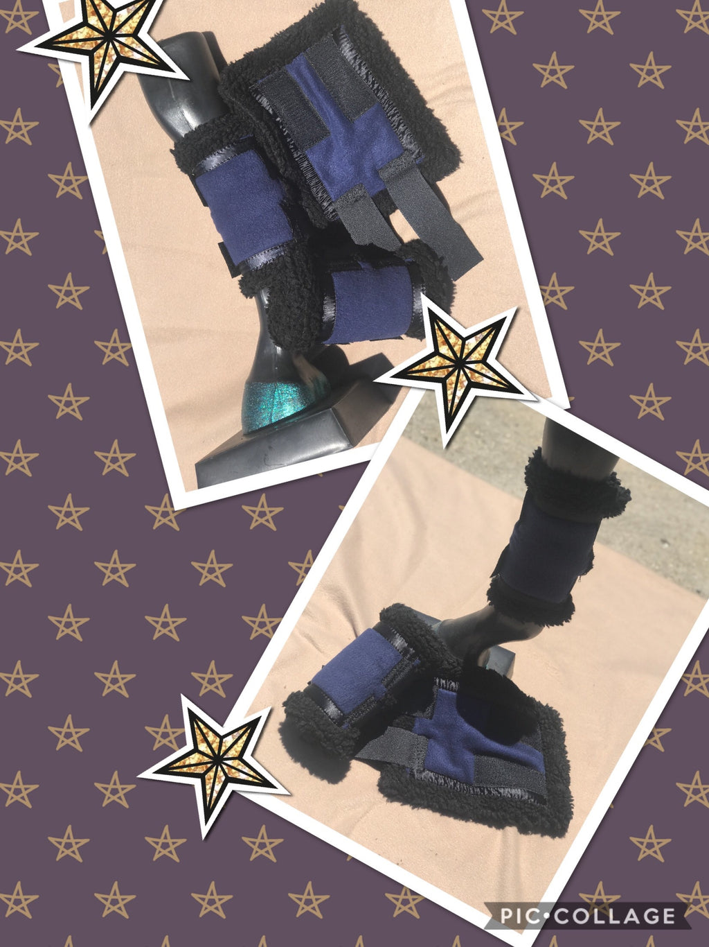 Navy Sherpa boots (set of 4)
