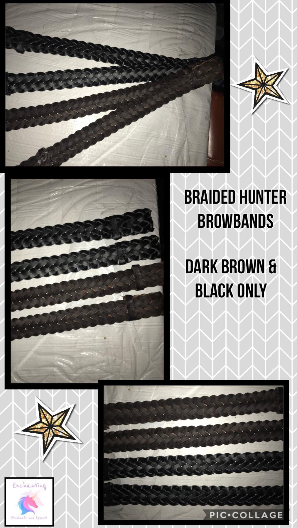 Plaited hunter browband