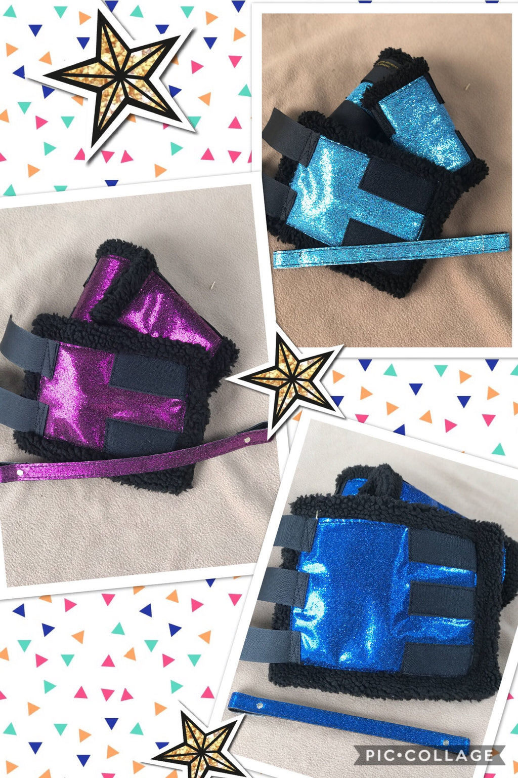 Sparkly boots (set of 4) & matching browband