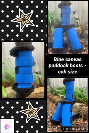 Canvas paddock boots (set of 4)