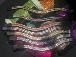 Crystal bling browbands