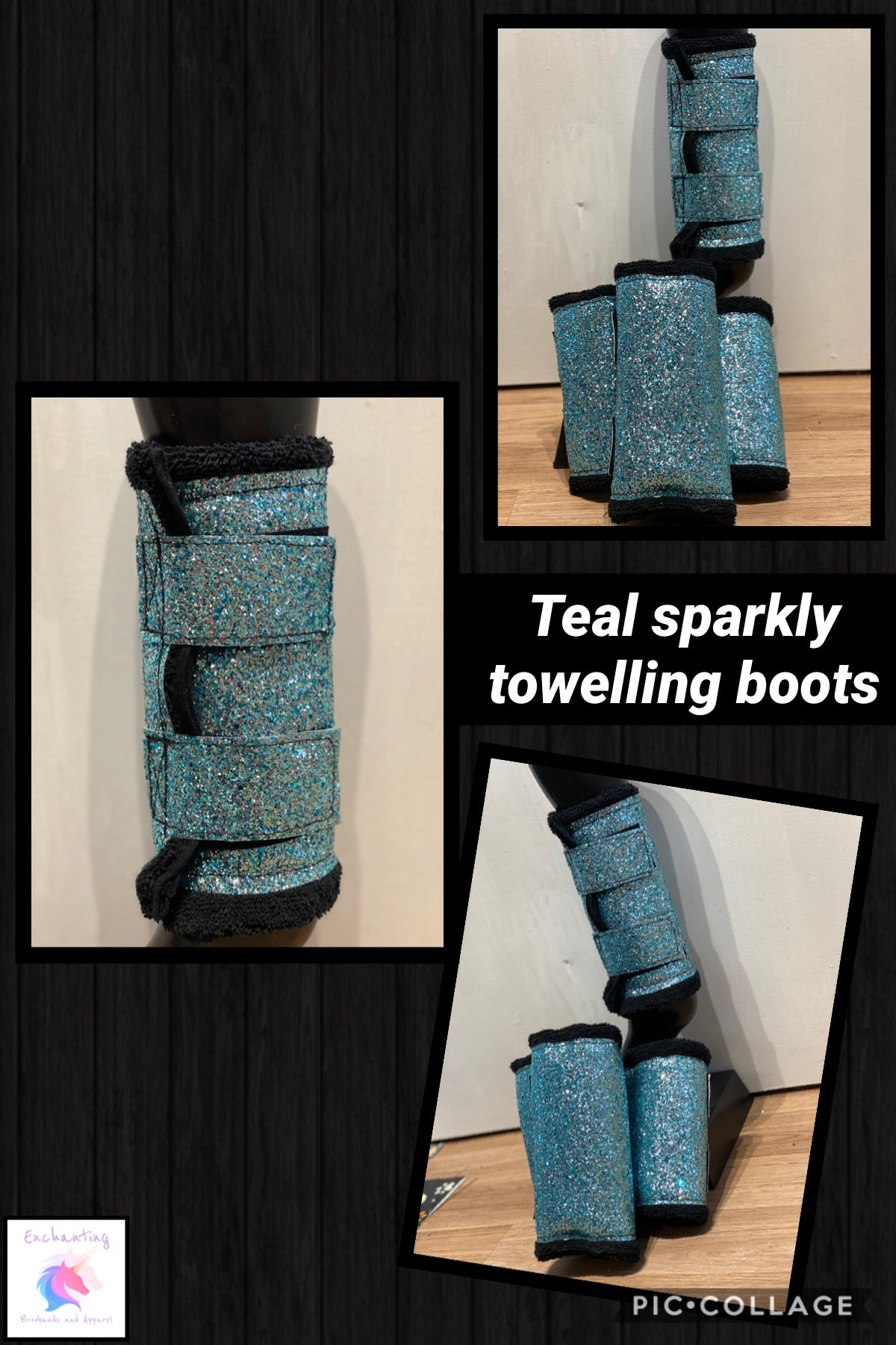 Towelling boots (set of 2)