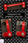 Red holographic browband