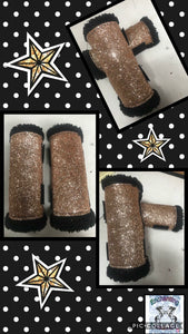 Rose gold sparkly boots x4