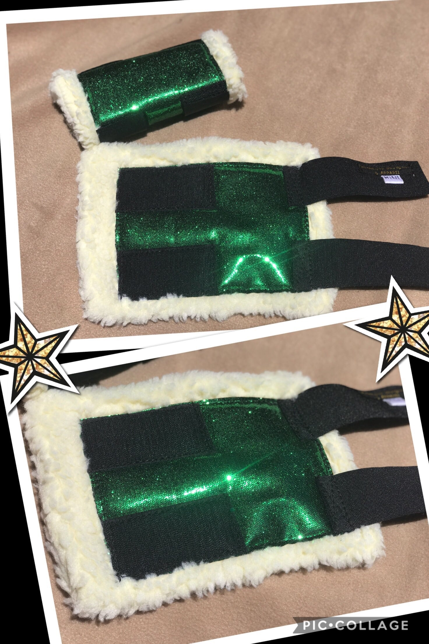 Green sparkly boots(set of 4)