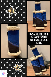 Royal blue & black Sherpa boots x2