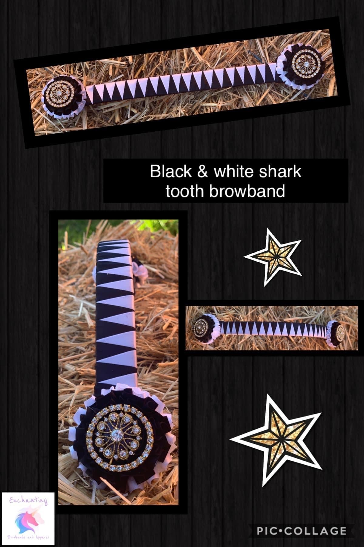 Black & white sharktooth browband
