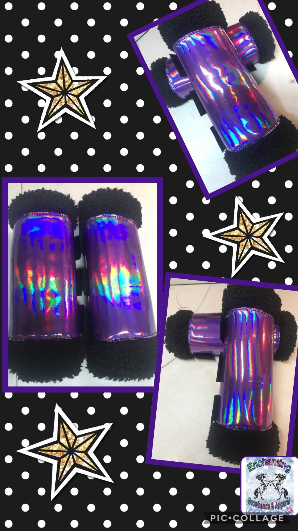 Holographic boots  (set of 4)